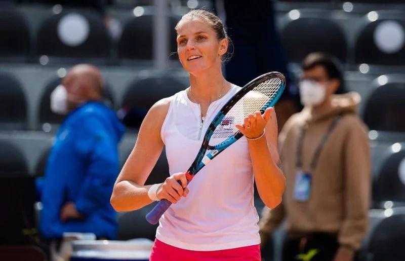Karolina Pliskova at the practice session