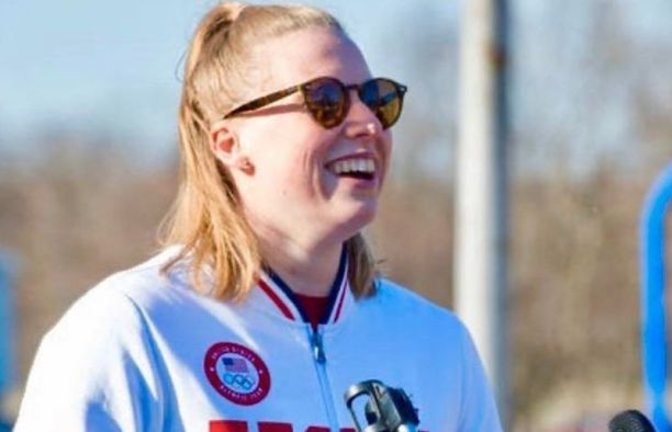 Lilly King at the  Deaconess Aquatics Center