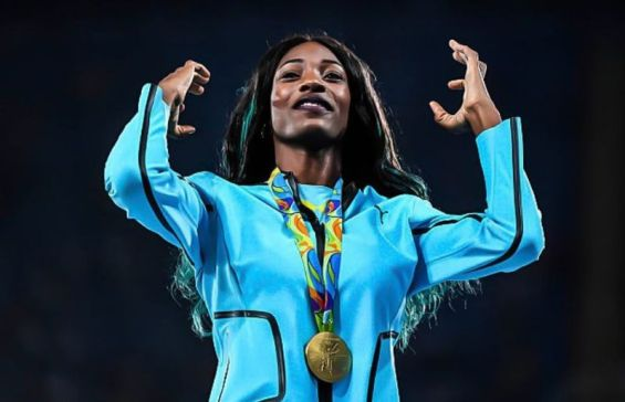 Shaunae Miller-Uibo in Olympic gold award events