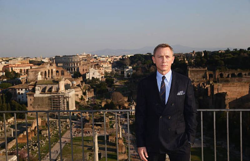 """Daniel Craig at """"SPECTRE"""" Photocall On Location In Rome, Italy"""