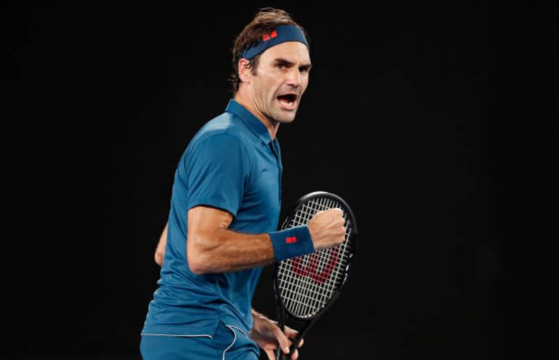 Roger Federer at 2019 Australian Open - Day 7