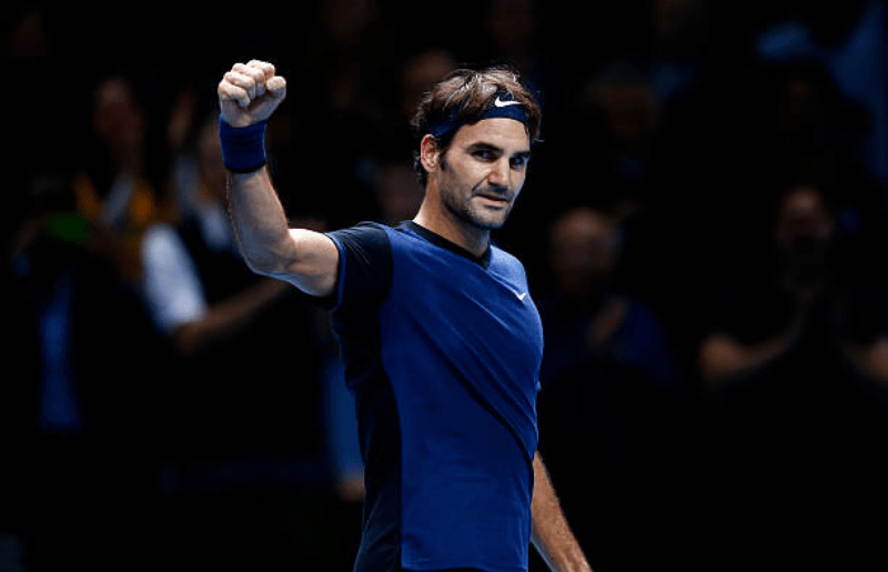 Roger Federer at Barclays ATP World Tour Finals - Day Three
