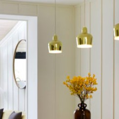 Black Kitchen Appliances Tall Trash Cans Alvar Aalto A330s Golden Bell Pendant Lamp By Artek | Stardust