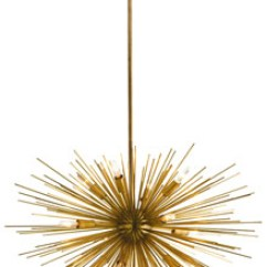 Light Pendants Kitchen Antique Sinks Astra Mid-century Sputnik Chandelier W/12 Lights, Brass ...
