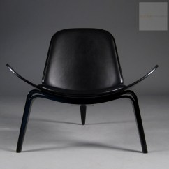Shell Chair Replica How Much Weight Can A Gaming Hold Wegner Home Design Ideas Ch07 Lounge By Carl Hansen Black Sample
