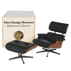 Charles Eames Lounge Chair Small Wing Vitra Miniature 5 Inch And Ottoman Stardust
