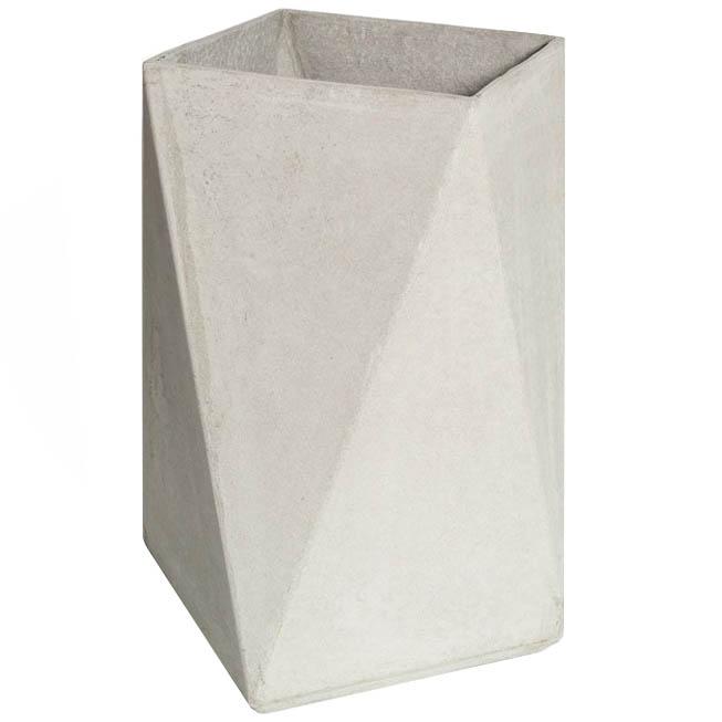 Fiber Concrete Tall Square Planter 28 Quot Stardust