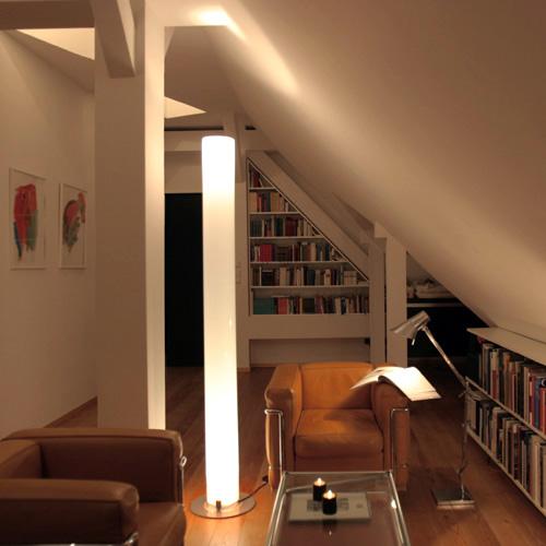 Flos White Stylos Floor Lamp by Achille Castiglioni  Stardust