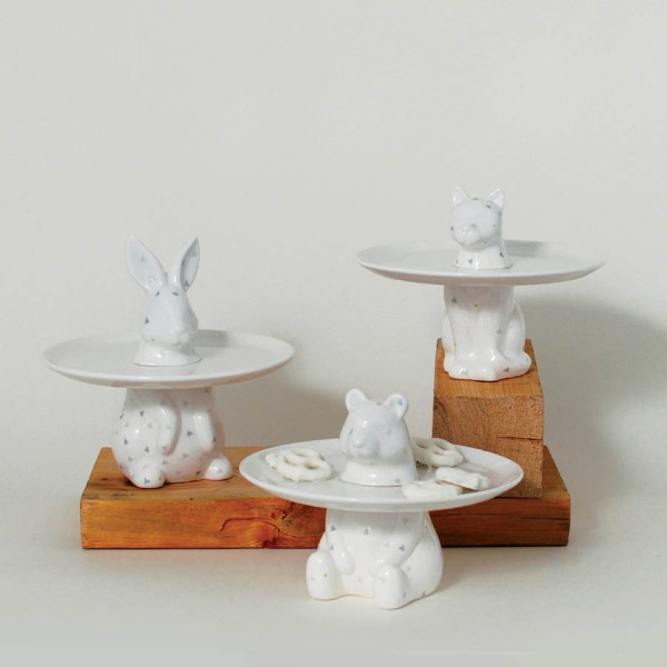 Menagerie Rabbit Decorative Serving Plate - Cake Stand