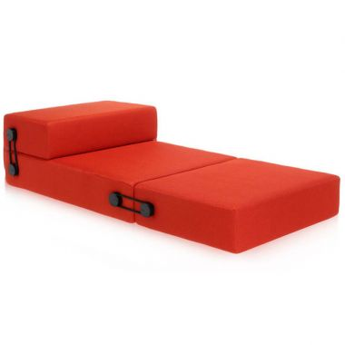 sofa sleeper bed frame microfiber furniture protector trix convertible folding guest kartell modern pull out futon by piero lissoni