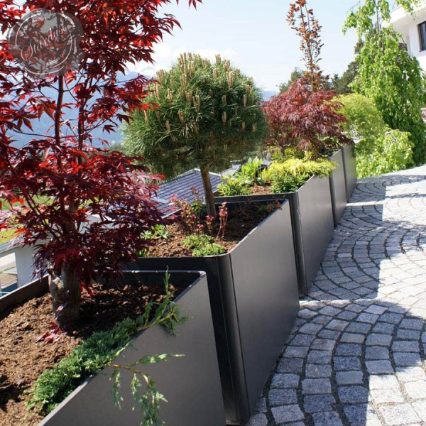 modern outdoor planters rectangular