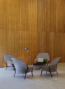 SLOW modern living room chair  black  VITRA