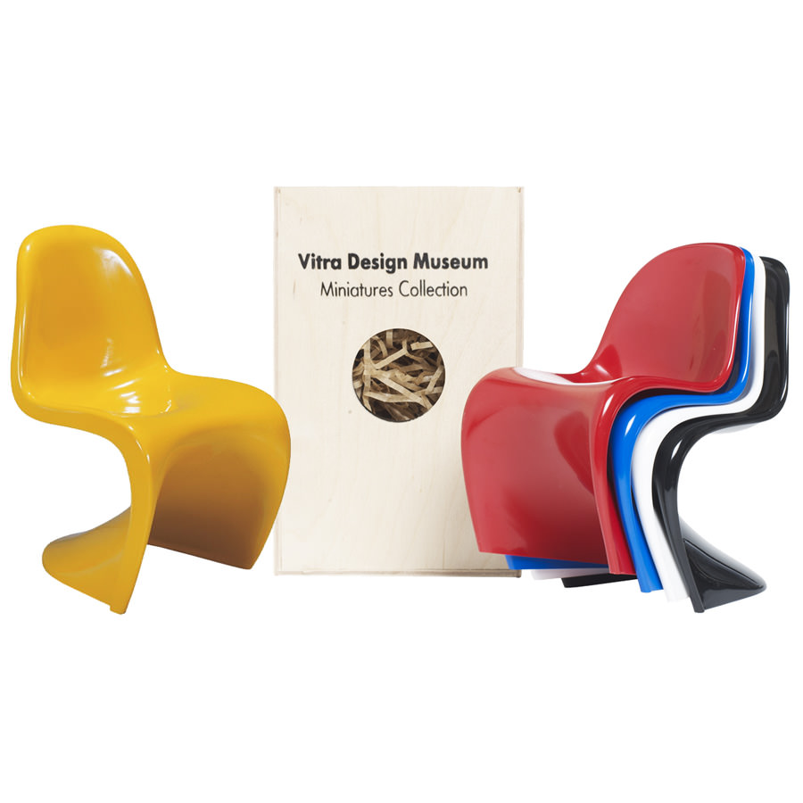 vernon panton chair blue high back dining chairs vitra miniatures open box floor sample sale stardust