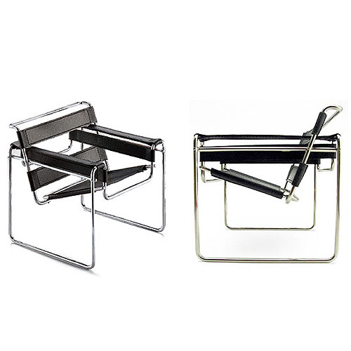 Vitra Miniature B3 Wassily Chair by Marcel Breuer  Stardust