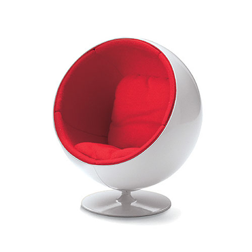 small ball chair diy wingback slipcover vitra miniature by eero aarnio | stardust