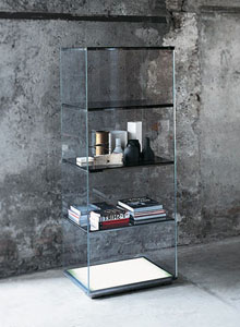 Glas Italia Brera Modern Shelving Unit or Cabinet by Opera