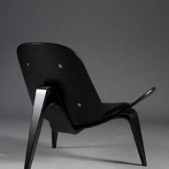 Big Chair With Ottoman Swing Dedon Ch07 Lounge By Carl Hansen - Black (sample Sale)
