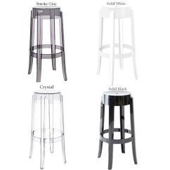 Ghost Chair Bar Stool Mid Century Modern Wire Charles By Kartell Clear Acrylic Stardust