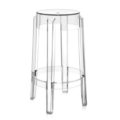 Ghost Bar Chair Cover Rentals Newmarket Charles Modern Stool By Kartell Clear Acrylic Stardust