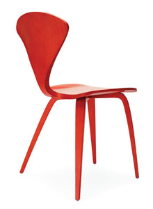 orange side chair chairs made out of pallet wood norman cherner in stella stardust