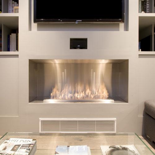 Ecosmart Fire Firebox 1200SS Modern Ventless Fireplace Insert  Stardust