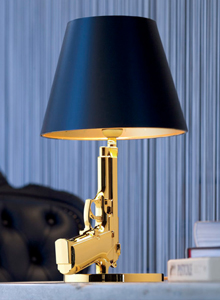black aluminum outdoor sofa old world style leather gun bedside table lamp in gold with shade - flos