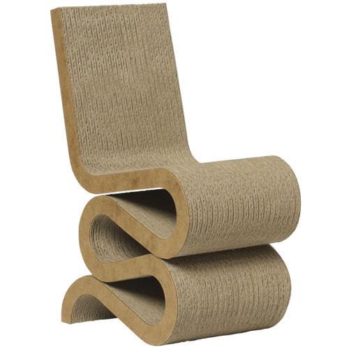 WIGGLE frank gehrys Wiggle chair masterpiece  cardboard