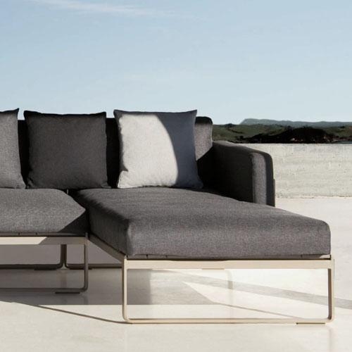 Gandia Blasco Flat Modern Outdoor Sofa Modular 2  Stardust