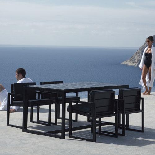 Gandia Blasco Mesa Alta Saler Modern Outdoor Dining Table