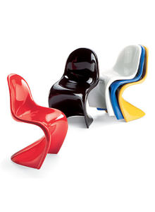 panton s chair portable with canopy and footrest vitra miniature chairs by verner set of 5 stardust