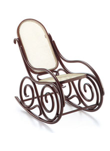 bent wood rocking chair alfa revolving price vitra miniature 6 75 inch no 9 bentwood by thonet