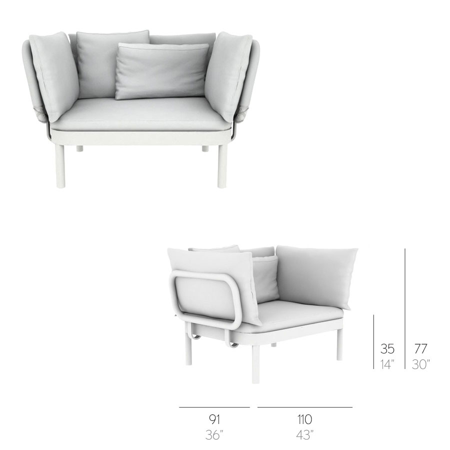 gandia blasco clack chair dxracer gaming sillon tropez modern outdoor lounge by stardust