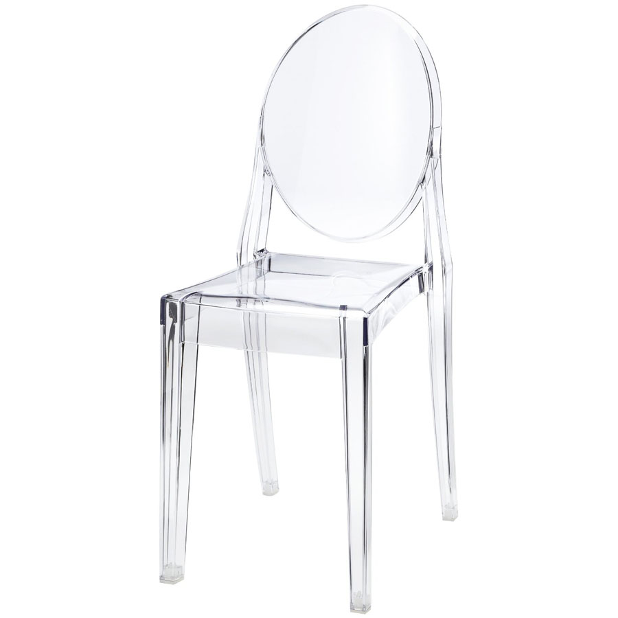 victoria ghost chair for lower back support transparent acrylic by kartell sale stardust