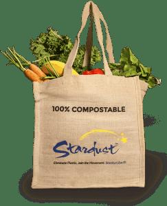 Stardust Compostable Jute Bag