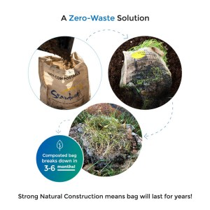 a zero-waste solution - composted stardust bag breaks down in 3-6 months