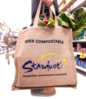 durable, heavy-duty stardust shopping bag