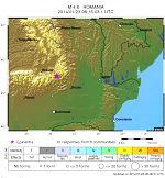 Diagrama cutremurului din Vrancea, de 4.8 pe scala Richter