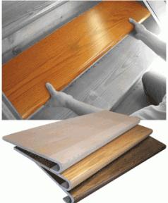 Starecasing Hardwood Stair Overlay System | Wood Stair Tread Caps | Red Oak | Retread | Hardwood | Nosing | Pre Built