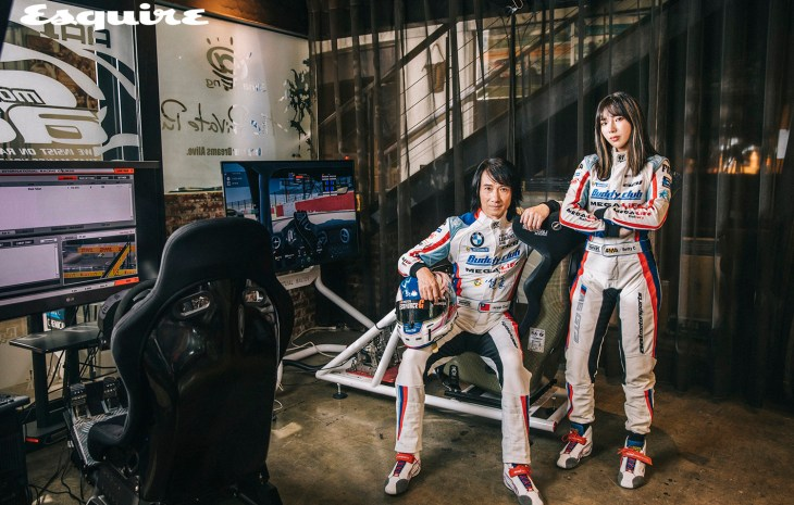 Champion racers Jun San Chen and Betty Chen