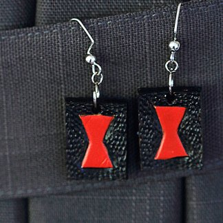 Black Widow leather earrings