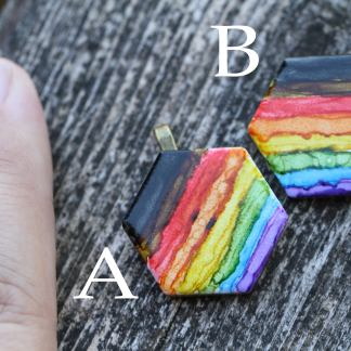 Inclusive pride flag statement pendant