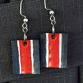 N7 leather earrings