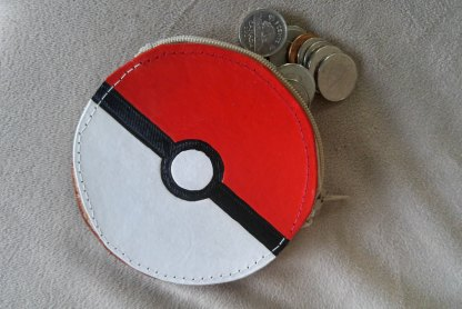 Poke ball leather coin purse