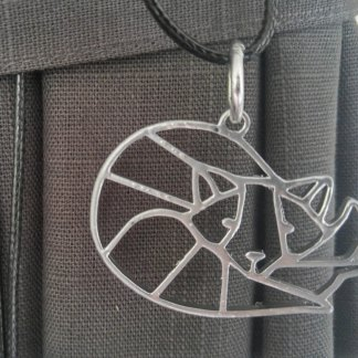 Stylized fox pendant/necklace/statement piece in silver or gold