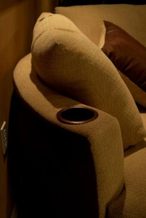 theater chair accessories bamboo directors cuddle couch - stargate cinema