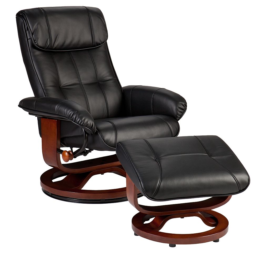 Holly  Martin Bryce Euro Style Recliner and Ottoman in