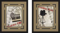 """Coming Soon!"" and Movie Camera Framed Theater Wall Art"
