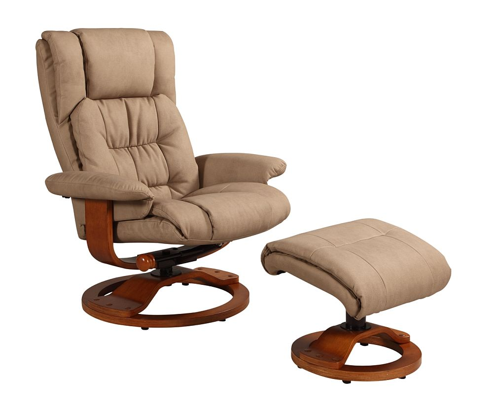 euro recliner chair distressed leather vinci and ottoman in stone nubuck bonded mac motion