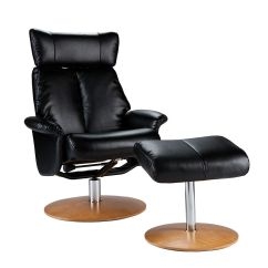 Rialto Black Bonded Leather Chair Design Car Holly Martin Bennett Euro Style Recliner And Ottoman In Special Sale Shimmer
