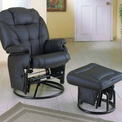 Glider Chair Ottoman Toddler Table And Sets Comfort Swivel With In Black Stargate Cinema Coaster Model 2644